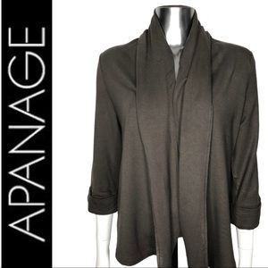 💋2/$30💋 Apanage Brown Knit Cardigan Shawl Collar